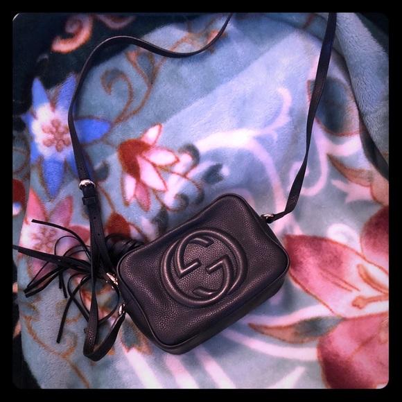 Gucci Handbags - Gucci disco bag small black pebble leather